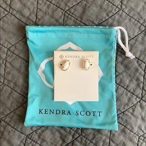 Kendra Scott gold/White Earrings